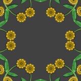 Żółty wzoru kwiecisty ilustracja wektor