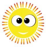 Żółty zabawy słońce Fotografia Royalty Free