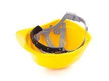 Żółty zbawczy hełm obrazy stock