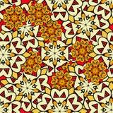 Żółtych mandalas bezszwowy tło endless royalty ilustracja