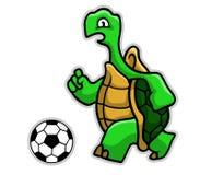 Żółw piłka nożna Royalty Ilustracja