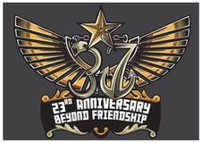 2ó aniversário da classe 37 do Pre-cadete ilustração royalty free