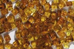 Żółci bursztynów kamienie Zdjęcie Royalty Free