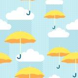Żółci parasole Fotografia Royalty Free