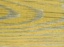 Żółta drewniana tekstura Zdjęcia Royalty Free