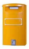 Żółta Europejska skrzynka pocztowa Obraz Stock