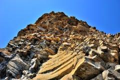 Żółta faleza piaskowiec zdjęcia royalty free