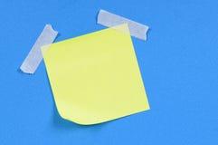 Żółta kleista notatka (XL) Obraz Royalty Free