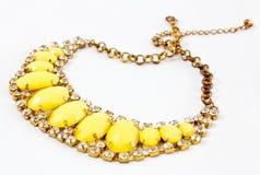 Żółta kolia Obraz Stock