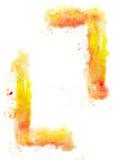 Żółta obraz rama Zdjęcia Stock