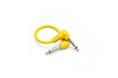 Żółty audio kabel Fotografia Stock