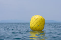 Żółty boja dla regatta Obraz Royalty Free