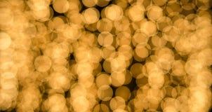 Żółty bokeh Zdjęcia Royalty Free