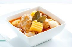 Żółty curry'ego kurczak Zdjęcie Stock