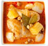 Żółty curry'ego kurczak Fotografia Stock