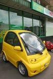 Żółty eco samochód Zdjęcia Stock