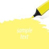 Żółty highlighter wektor Obrazy Royalty Free