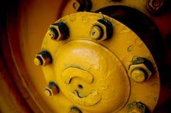 Żółty Hubcap Obrazy Royalty Free