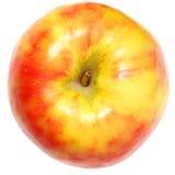Żółty i Czerwony Apple Nad bielem zdjęcia royalty free