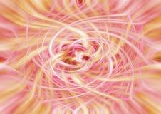 Żółty i czerwony twirl, ilustracja Zdjęcia Stock