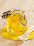 Żółty jello fotografia stock