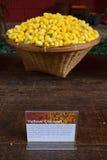 Żółty kokon Tajlandzcy jedwabniki Fotografia Royalty Free