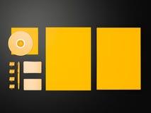 Żółty Korporacyjny ID mockup Zdjęcie Stock