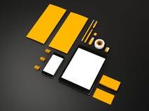 Żółty Korporacyjny ID mockup Obrazy Stock
