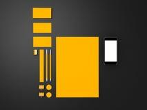 Żółty Korporacyjny ID mockup Zdjęcia Stock