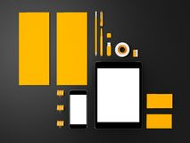 Żółty Korporacyjny ID mockup ilustracja wektor