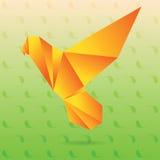 Żółty lovebird origami Zdjęcia Stock