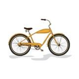 Żółty miasto bicykl Obrazy Stock