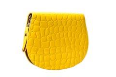 Żółty portfel Zdjęcia Stock