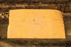 Żółty szklaka backround na starym drewnie Zdjęcia Stock