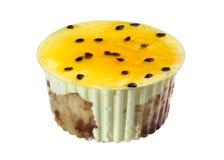 Żółty tort, deser Obrazy Royalty Free