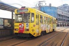 Żółty tramwaj Zdjęcia Royalty Free