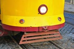 Żółty tramwaj w Lisbon Fotografia Stock