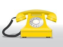 Żółty wektorowy telefon Zdjęcie Royalty Free