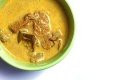 Żółty wieprzowina curry Obraz Royalty Free
