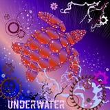 Żółw, Podwodny, Gearwheels royalty ilustracja