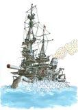 Żółwia battlecruiser Zdjęcie Royalty Free