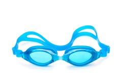 Óculos de proteção cianos da natação Imagens de Stock