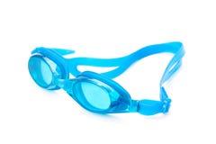 Óculos de proteção cianos da natação Imagem de Stock Royalty Free
