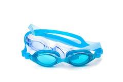 Óculos de proteção cianos da natação Fotografia de Stock Royalty Free
