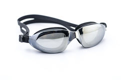 Óculos de proteção da natação no branco Imagem de Stock