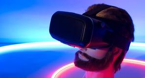 Óculos de proteção da realidade 3D virtual do vr 360 de Smartphone Imagem de Stock