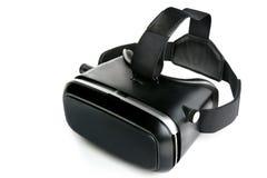 Óculos de proteção da realidade virtual dos vidros da realidade virtual, backgroun branco Imagens de Stock Royalty Free