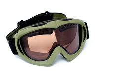 Óculos de proteção da snowboarding isolados Fotografia de Stock