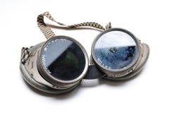 Óculos de proteção da soldadura Fotos de Stock