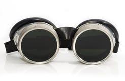 Óculos de proteção da soldadura Fotografia de Stock Royalty Free